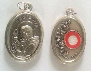 St. Padre Pio Relic Medal - Pack of - Padre Store