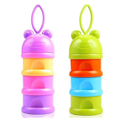 Best Price SKK Baby Formula Powder Dispenser Container Travel 3 Compartments 2 Pack