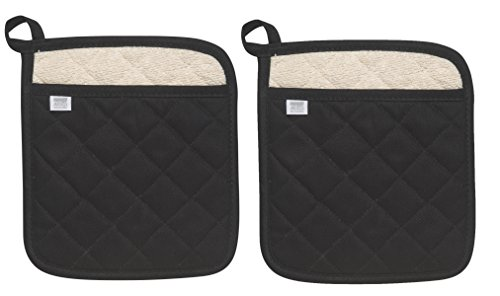 Now Designs Superior Potholders black