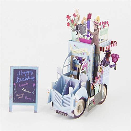 [해외]3D Pop Up Flowers Car Greeting Cards Thank You Card Valentine Anniversary Birthday Party Invitations Card Paper Craft / 3D Pop Up Flowers Car Greeting Cards Thank You Card Valentine Anniversary Birthday Party Invitations Card Paper...
