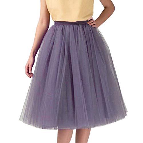 WDPL Women's Short Knee Length Bridal Tulle Tutu Skirt (Dusty Purple, Medium)