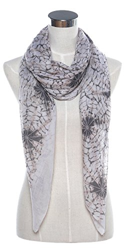 Niaiwei Women Scarf Plaid Blanket Scarves Wraps Shawl spider net (White)
