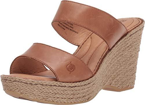 Born AAkash Wedge Sandals (9 M US, Brown)