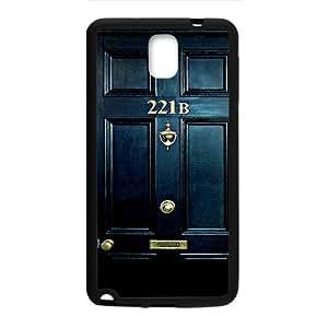 SANLSI Sherlock Holmes Door 221B Cell Phone Case for Samsung Galaxy Note3