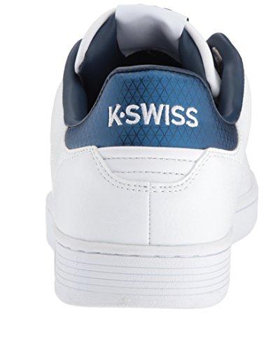 K-swiss Mens Clean Rechter Sneaker Wit / Insigne Blauw