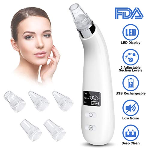 Blackhead Remover Blackhead Vacuum Pore Vacuum Cleanser Suction Acne Comedone Extractor tool USB Rechargeable Blackhead Suction Blackhead remover kit for Facial Skin