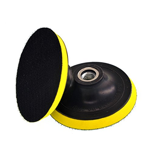 Portable Wax Polishing Buffing Pad Backing Plate for Hooking Looping Grinding Machine&Flocking Sandpaper&Self-adhesive Wool Ball