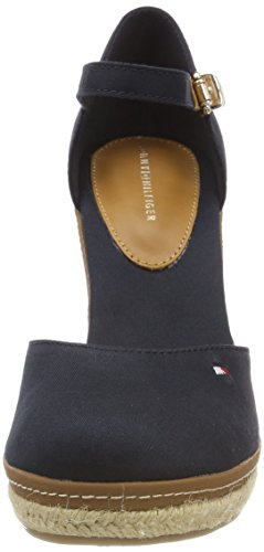 Tommy Hilfiger Damen Iconic Basic Closed Toe Wedge Espadrilles Blau (Midnight 403)