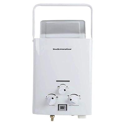 Calentador de gas Agua Caldera Caldera Gas Calentador - Calentador de agua portátil camping ducha 10 litros camping ducha Caballos ducha: Amazon.es: ...