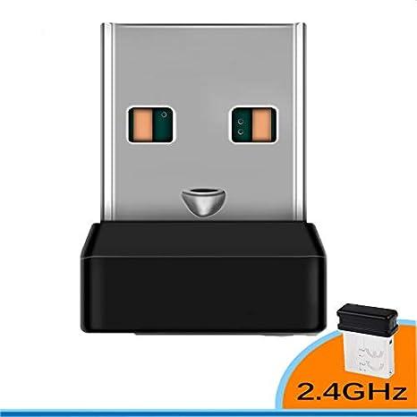 Houkiper Receptor Dongle Inalámbrico Logitech Teclado Inalámbrico Unificador 6 Canales 6MM