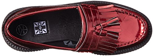 Women's Patent Shoes Burgundy Red T K Metallic Tassle U Loafer 6PwUx