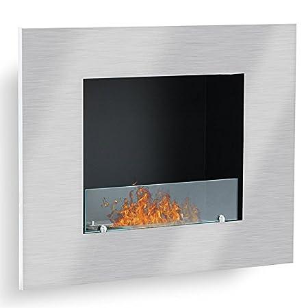 Firenox Vario - acero inoxidable pulido, chimenea etanol (estufa Bio, pared): Amazon.es: Hogar