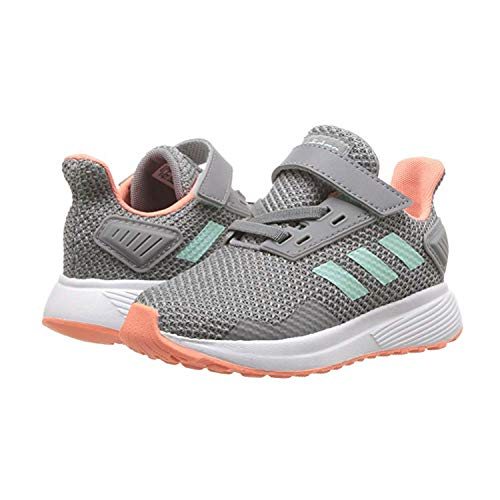 adidas Performance Baby Duramo 9 Running Shoe, Grey Heather/Clear Mint/Granite, 8K M US Toddler