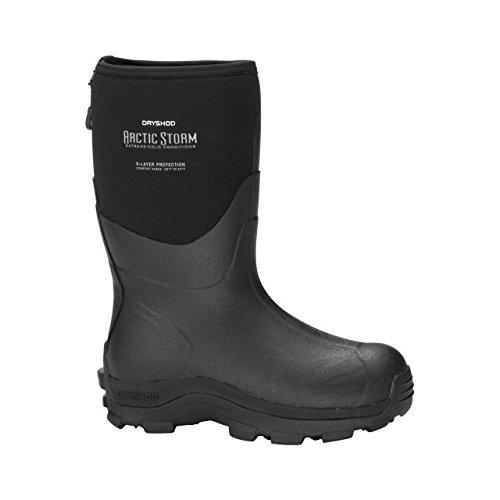 Picture of Dryshod Arctic Storm Mid Mens Black/Grey Winter Boots 12M