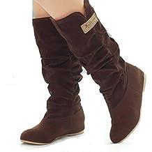 2017 Mid Leg Wide Calf Slouch Dress Moto Boots US12