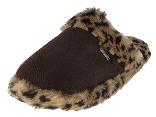 Beppi - Zapatillas de estar por casa de tela para mujer Marrón - marrón