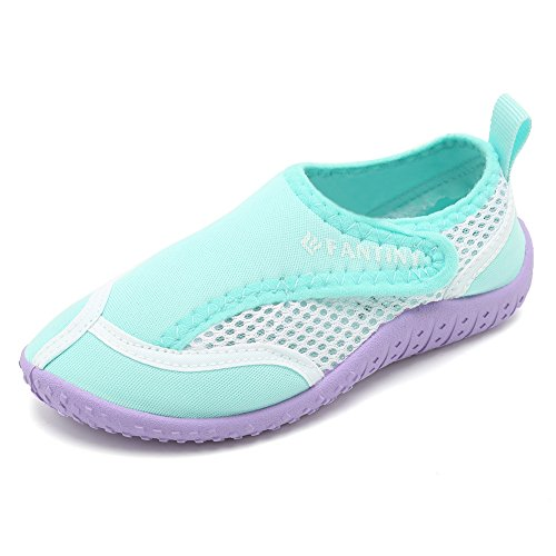 CIOR Toddlers Water Shoes Aqua Socks Athletic Swim Pool Beach Sports Quick Drying 03green
