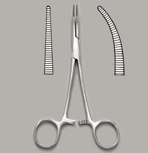 """Hemostatic Forcep - 5"""" Straight - Halsted Mosquito - Each"""