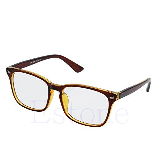 Amrka Retro Eyeglass for Men Women Unisex Full Frame Glasses Computer Spectacles Glasses - Spectacles For Computer