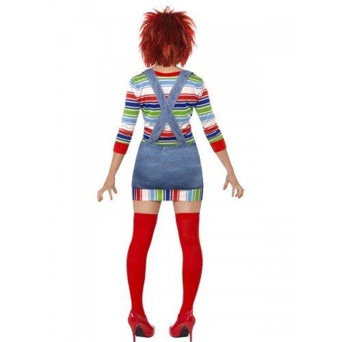 Mujer sexy Chucky Rag muñeca Halloween película Disfraz Outfit con peluca 8 - 18: Amazon.es: Juguetes y juegos