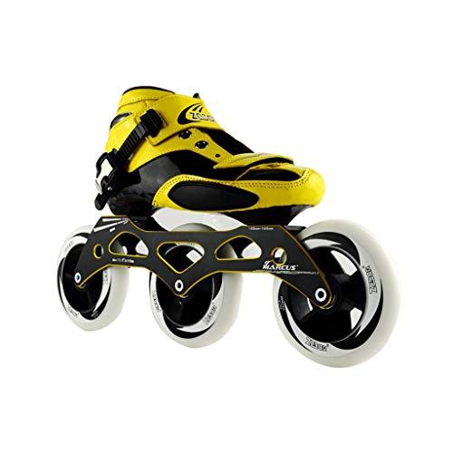 ポールランプタービンailj スピードスケートシューズ90MM-110MM調整可能なインラインスケート、ストレートスケートシューズ(2色) (色 : 白, サイズ さいず : EU 39/US 7/UK 6/JP 24.5cm)