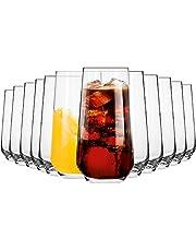 KROSNO Höga Dricksglas för Vatten och Juice   Set med 12   480 ML   Splendour-samlingen   Hiball & Tumbler Crystal Glass   Perfekt för hem, restauranger och fester   Diskmaskin och mikrovågsugn säker