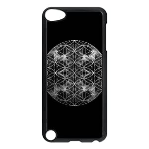 iPod Touch 5 Case Black Flower of Life