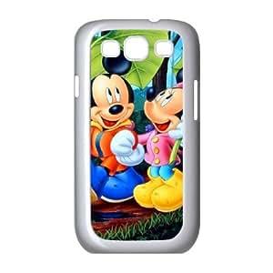 MICKEY MOUSE 042 galaxia S3 9300 funda teléfono celular de cubierta blanca, funda de plástico caja del teléfono celular