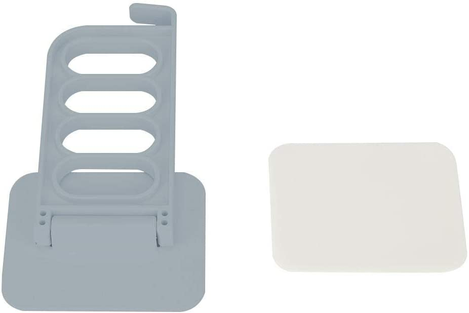 Colgador de Ropa de 4 Agujeros Secadora de Ropa montada en la Pared Estante de lavander/ía Adhesivo sin Perforaciones Gris (5 Piezas) Fictory Colgador de Ropa de Pared