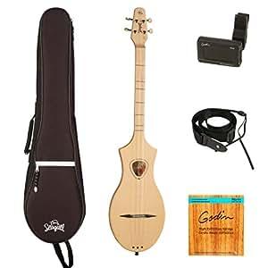 seagull merlin m4 spruce acoustic dulcimer guitarvault bundle with gig bag tuner. Black Bedroom Furniture Sets. Home Design Ideas
