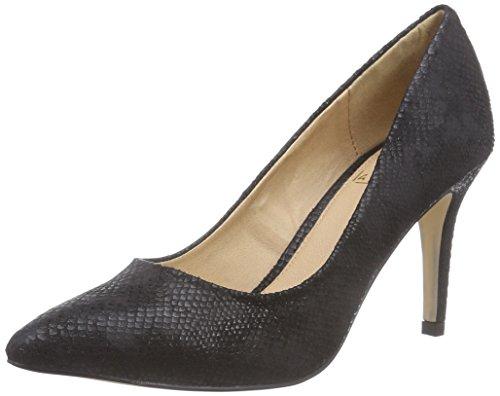 La Strada Schwarzer Schlangen-Look Pumps - zapatos de tacón cerrados de material sintético mujer negro - Schwarz (1501 - croco/snake black)