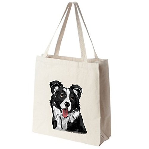 Border Collie Tote Bags U S product image