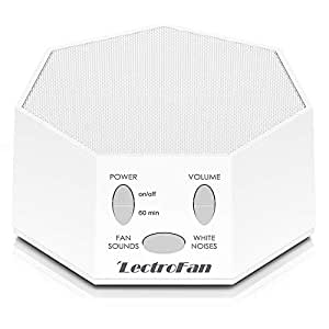 LectroFan High Fidelity White Noise Machine with 20 Unique Non-Looping Fan  and White
