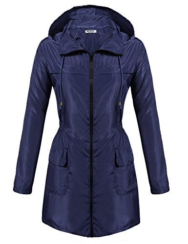 Hotouch Womens Light Weight Outdoor Hooded Windbreaker Outwear Jacket Bronze Violet (Bronze Violet)