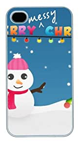 Christmas Wish Card Polycarbonate Hard Case Cover for iPhone 4/4S White New Year gift