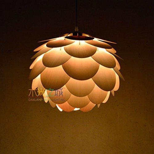 Ceiling Lamp Decorative: Handmade Beautiful Round Pine Cone Hanging 1-light Pendant