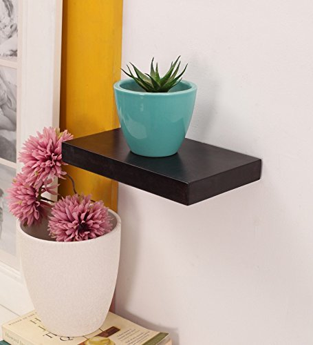 RGrandsons Wooden Black Floating Wall Shelves  amp; UP Box Stand