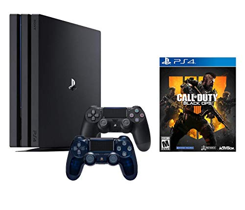 PlayStation 4 Call of Duty Black Ops IIII and 4K HDR PlayStation 4 Pro 1 TB Console with Extra 500 Million Limited Edition Dualshock 4 Wireless Controller (Split-Screen Play Available)