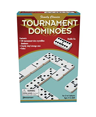 Family Classics Tournament Dominoes - Double Six Crystalline Tiles