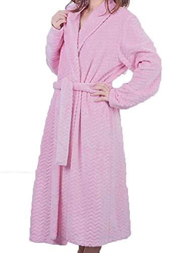 Baño Larga Basic B Sección Cálido Manga Pijama Para De Ropa Invierno Hombre Bata Mujer 68xqfzwYy