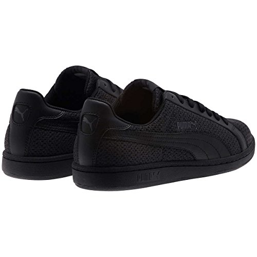 Puma Mens Smash Knit Fashion Sneaker Nero