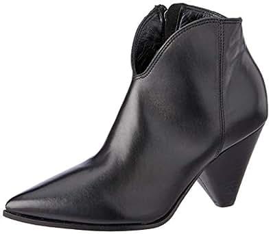 Sempre Di Women's PALOMA Pointy Cone Heel Ankle Boot, Nero, 36 EU