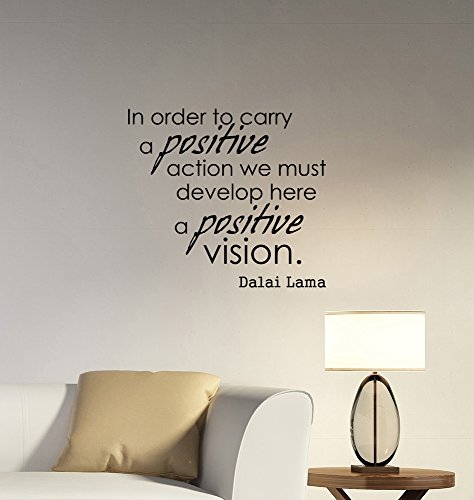 Positive Vision Dalai Lama Inspirational Quote Wall Decal Vinyl Lettering Buddhist Motivational Saying Sticker Religious Art Decorations for Home Room Bedroom Office Decor lq1 (Tibet Visions)