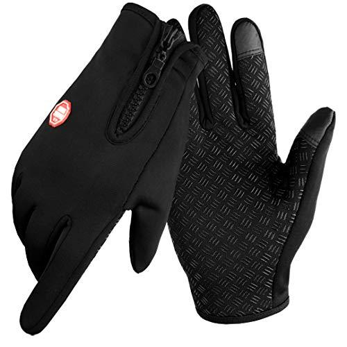 Touchscreen Handschuhe Herren Winter Smartphone wasserdichte Winterhandschuhe Herren oder Damen Handschuhe Sport Fitness Wasserfest for Reithandschuhe Fahrradhandschuhe Geschenk für Männer Frauen