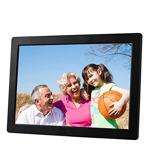 LSEC 15.4 inch HD 1080P Digital Photo Frame Video Wall Support Photo Music Calendar Built-in Speaker Commemorative Gift,Black -
