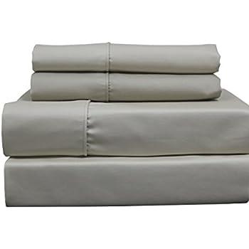 Solid Linen Top Split King: Adjustable King Bed Size Sheets, 4PC Bed Sheet  Set
