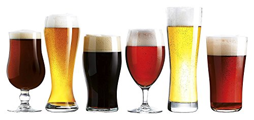 Luminarc 6 Piece Arc International Assorted Craft Brew Glasses Set, ()