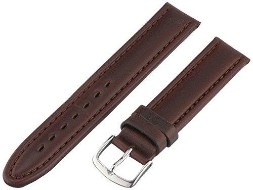 Hadley-Roma Men's MSM882RB-180 18-mm Brown Genuine Oil-Tan Leather Watch Strap ()