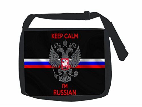 Keep Calm I'm Russian - Union Jack ? Jack's Outlet Inc.« Laptop Messenger Bag for Laptop/Notebook Computers + Small Wire/Accessory Case SET -
