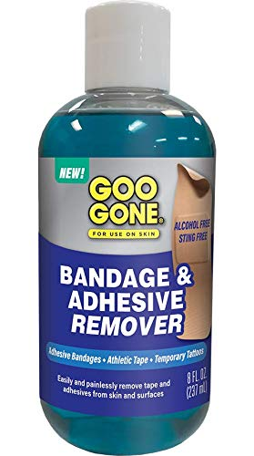 - Goo Gone Bandage Adhesive Remover For Skin - 8 Ounce